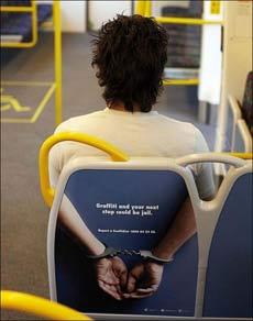 公车内的可怕广告