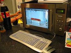 微波炉式电脑,没看过吧