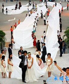 最长的婚纱