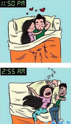 前半夜和后半夜的老婆对比