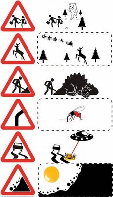 原来这些交通标志是这么个意思