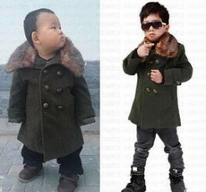 网上给儿子买了件衣服,上身效果与模特比较图