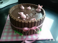 送给喜欢吃巧克力的女朋友的生日蛋糕