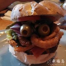 俏皮的汉堡