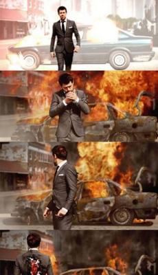 电影里遇到爆炸,主角都不回头看的原因