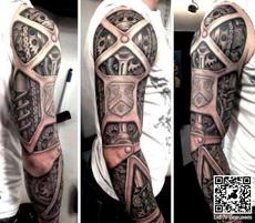 超酷纹身,机械手臂