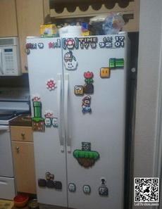 冰箱上贴的太可爱了