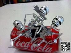 可乐罐能这么玩,你绝对没看过
