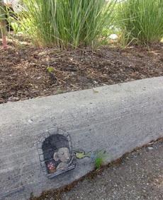 可爱的地面涂鸦,有爱