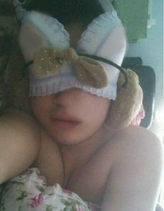 有了新眼罩睡得就是香