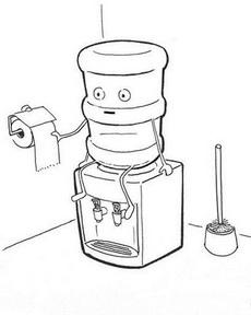 再也無法喝飲水機的水了