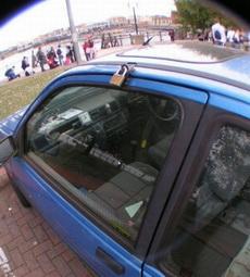这车锁得太高端大气上档次了!