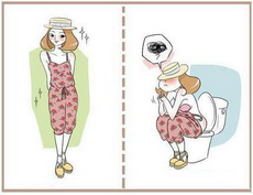 一圖告訴你連體裙是怎么上廁所的