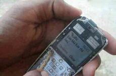 好坚强的手机啊!