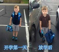 开学第一天上学和放学时的状态