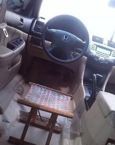 小车挺来劲!刚改装的座椅!