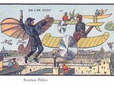 1901年的明信片,想象的2000年人类生活,果然好奇怪!