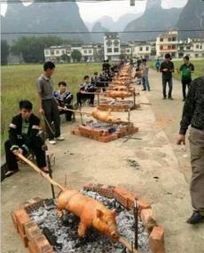 真正的烤全猪