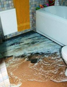 3D浴室地板