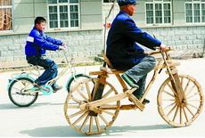 爷爷,等等我,您骑得太快了!