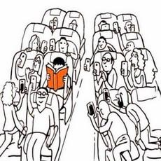 哇塞居然有人在读书耶!快拍下来发个朋友圈!