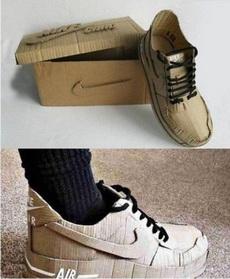 亲手做的耐克鞋