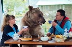俄羅斯的斯韋特蘭娜和尤里,和一只23歲的熊一起生活
