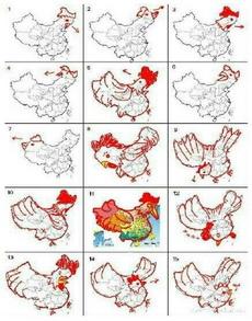 中国地图像雄鸡,你的脑洞我竟然无法参透