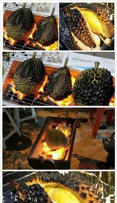 火烤榴莲!泰国人吃榴莲的最高境界!有没有人想试试的~