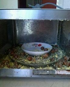 是谁说的板栗拿到微波炉里可以快速去壳的