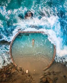 在这里游泳真爽
