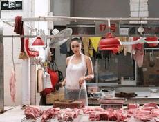 街头卖猪肉