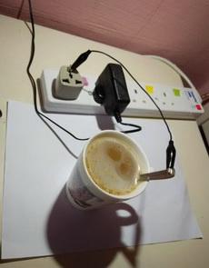 嗯,热个咖啡~