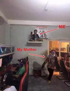 当我妈去网吧gank我的时候