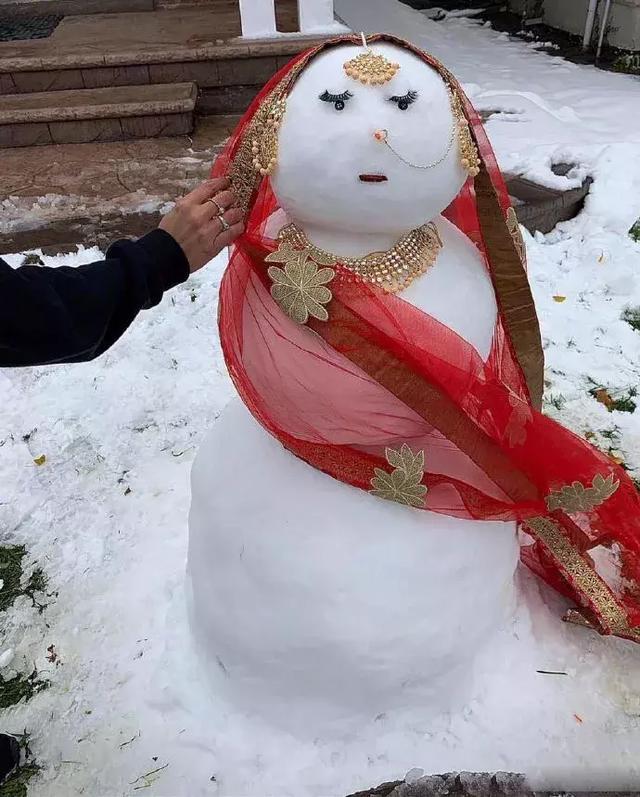 一看就知道是哪国人做的雪人