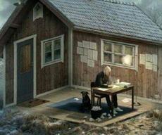 房子里面还是在外面?