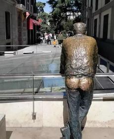 雕像大爺的辛酸啊