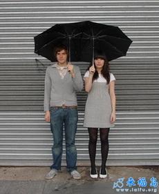 情人专用雨伞