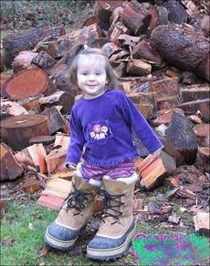 小女娃的馬靴