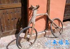 自制自行车,这能骑吗?