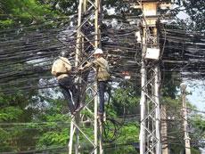 好多电线啊