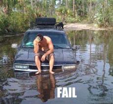Off Roading Fail.