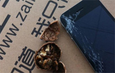 尼瑪,論壇里哪個王八蛋果粉說iPhone4可以砸核桃的?。。?!