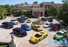 有钱人家的停车场