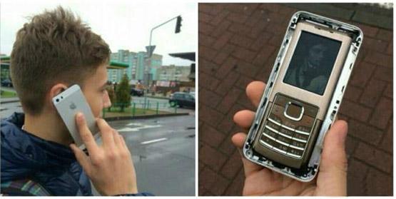 网络照片不能信啊,这款iPhone5手机壳真能唬人