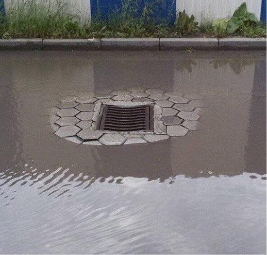 这下水道防渗做的不错